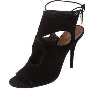 Black velvet sexy thing Aquazzura shoes.